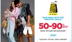 Ajio Giant Fashion sale 50% To 90% Off 15th To 19. + 5% Instant Discount Via Axis