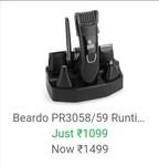 Upcoming in BBD Beardo PR3058/59 Runtime: 60 min Multi Purpose Trimmer for Men