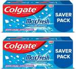 Colgate MaxFresh Anticavity Gel, Peppermint Ice Toothpaste  (600 g, Pack of 2)