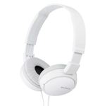 Sony MDR-ZX110A On-Ear Stereo Headphones (White), without mic 50% OFF