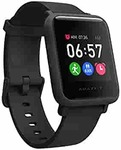 Amazfit Bip S Lite Smart Watch, 30 Days Battery Life, 150+ Watch Faces, Always-on Display, 30g Lightweight, 5 ATM Water Resistance, 8 Sports Modes (Charcoal Black)+10% off with HDFC