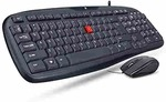 iBall Wintop Soft Key Keyboard and Mouse Combo with Water Resistant Design, Black