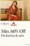 Min 60% off on women kurtas & set [brand like- VARANGA, ZIYAA, ISHIN, ANAISH, VISHUD & MORE]