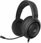 Corsair HS45-7.1 Virtual Surround Sound PC Gaming Headset w/USB DAC - Memory Foam Earcups - Carbon