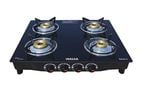Lowest - Inalsa Dazzle Glass Top 4 Burner Gas Stove, Manual Ignition, Black @ 3157