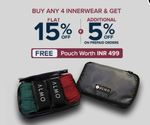 Buy 4 Get 15% OFF + Free Pouch | Extra 5% OFF on Prepaid