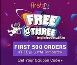 [Live 25th Nov 3PM] First 500 Orders Free Upto Rs.1500 @ Firstcry