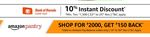 Amazon Pantry 10 % instant discount with BOB Cards(22-25 Nov)