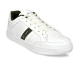 Allen Cooper Men White Striped Sneakers