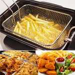 Dayalu Stainless Steel Strainer Deep Fry Basket for Kitchen Tool Potatoes Chips French Fries Mini Fry Square Basket Use for Cook