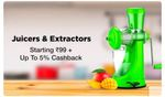Juicer & Extractors Up to 80% Off +  FLAT 15% cashback on Purchase of Home And Kitchen