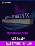 First Sale on 16th Jan | Snokor  Soundbar 60W Surround Sound