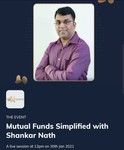Timesprime : Mutual Funds Simplified with Shankar Nath A live session at 12pm on 30th Jan 2021