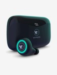 Wings PowerPods Water Resistant In the Ear Wireless Earbuds with Voice Assistant (Black)