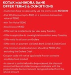 Get 10% off upto 300₹ using Kotak Cards on Grofers Every Tuesday