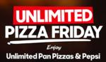 Unlimited Pan Pizzas & Pepsi @269 at PizzaHut