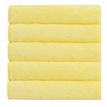 Bathla Spic & Span Multi Purpose Micro Fiber Cleaning Cloth - 340 GSM: 30cmx30cm (Pack of 5 - Lemon) Rs.226 @ Amazon