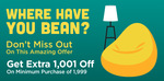 Get Extra 1001 Off on Minimum purchase of Rs. 1999 (select users)