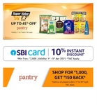 Amazon pantry : Shop for 1000 get 150 cashback