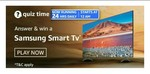 Amazon Quiz Answers for 2nd Apr'21 – Win Samsung Smart Tv : 1Winner