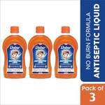 Dabur Sanitize Antiseptic Liquid | No Burn Formula Antiseptic Liquid  (1575 ml, Pack of 3)