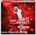 Colgate Maxfresh Spicy Fresh Red Gel Toothpaste  (600 g, Pack of 4)