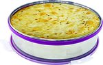 Princeware Dura Click Stainless Steel Khakhra Box with Lid, 2 litres, Silver