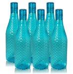 Wonder Magna Fridge Bottle Set, Blue Color, Set of 6 Bottles, Made in India, KBS00070