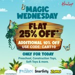Hamleys Magic Wednesday Flat 25% Off + Additional 10% Off Only For Today