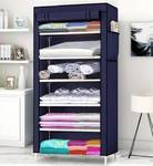 Flipkart Perfect Homes Studio Single Door 6 Shelf Carbon Steel Collapsible Wardrobe