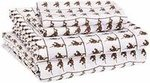 AmazonBasics Kid's Sheet Set - Soft, Easy-Wash Microfiber - Queen, Brown Monkeys - with 2 pillow covers upto 73% off (regular price 1400+) now ₹ 640