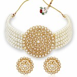 Sukkhi Adorable Gold Plated Pearl Choker Necklace