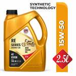 CANDICE Re Series Assembly Line 4T 15W50 API SM Synthetic Technology Engine Oil with Ester for Royal Enfield Bullets (2.5 L)