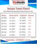 Tripshaala Is Offering Upto 27% Off On Flight Tickets