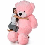 Price Drop - VEERA SOFT TOYS Teddy Bear for Girls, Panda Teddy Bears, tady Bears Toys Big Size Latest 3 feet Pink.