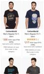 upto 80% off on cottonworld men's clothing