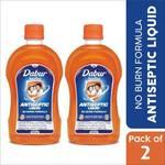 Dabur Sanitize Antiseptic Liquid | No Burn Formula Antiseptic Liquid  (1050 ml, Pack of 2)