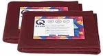 Quard Waterproof Baby Dry Sheet 70 x 50 cm (Small, Maroon) - Pack of 2