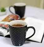 KITTENS Food Grade Ceramic Coffee Mugs, 300 ml, Blue, Set of 2
