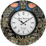 RoyalsCart Peacock Painting Analog Wall Clock - 12 x 12 inch,MultiColor