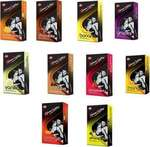 Kamasutra FLAVORED DOTTED CONDOM COMBO PACK (10*10=100PIS) Condom  (Set of 10, 100S)