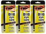 Ads Eye Care Kajal Long Lasting Extra Black Water Proof Kajal 12 Hr (Set Of 3)