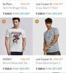 Many products available upto 50%off (lee, polos, and sweatshirt etc)