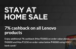 Lenovo Stay & Play At Home Sale - Get Cashback up to ₹7000 on Laptop & all gaming PCs  using HDFC bank cards