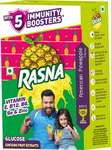 PANTRY Rasna Fruit Fun 32 Glass, American Pineapple, (powder containt: 20g and liquid content: 25ml with free 6 glasses pack Worth Rs.5/-)
