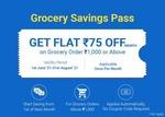 Grocery Savings Pass -  ₹ 1  with triple power  savings  Offers