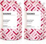Amazon Brand - Solimo Germ-Protect Handwash Liquid, Refreshing Rose, 750 ml, Pack of 2