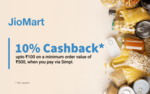 Get 10% cashback up to ₹100 on your next Simpl transaction on JioMart