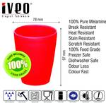 Iveo Melamine Tumbler - 2 Pcs, Red, 300Ml