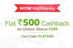 Mamaearth Wow Wednesday Offer l Get Flat Rs. 500 Cashback On Orders Above Rs. 999